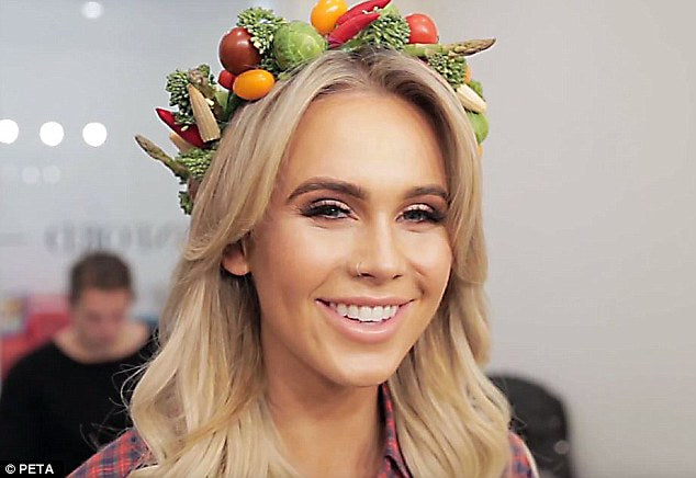 DJ Tigerlily Wears Nothing But a Crown Made of Vegetables in New Peta Ad
