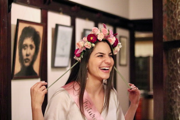 Alexandra's Flower Crown Making Workshop Hens Night