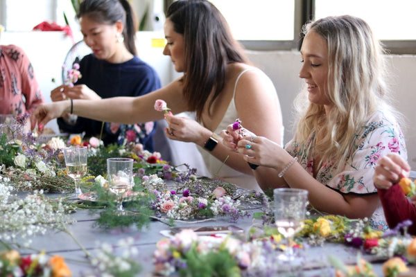 Hens Flower Crown Making Party
