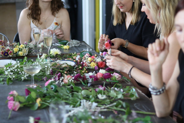 Hens Day Creative Flower Crown Making Workshop Sydney Hens Night Ideas Floral Wreath