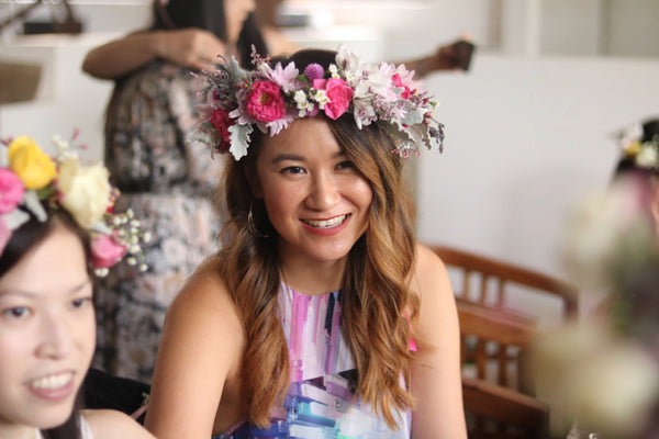 Fresh Flower Crown Workshops Sydney Hens