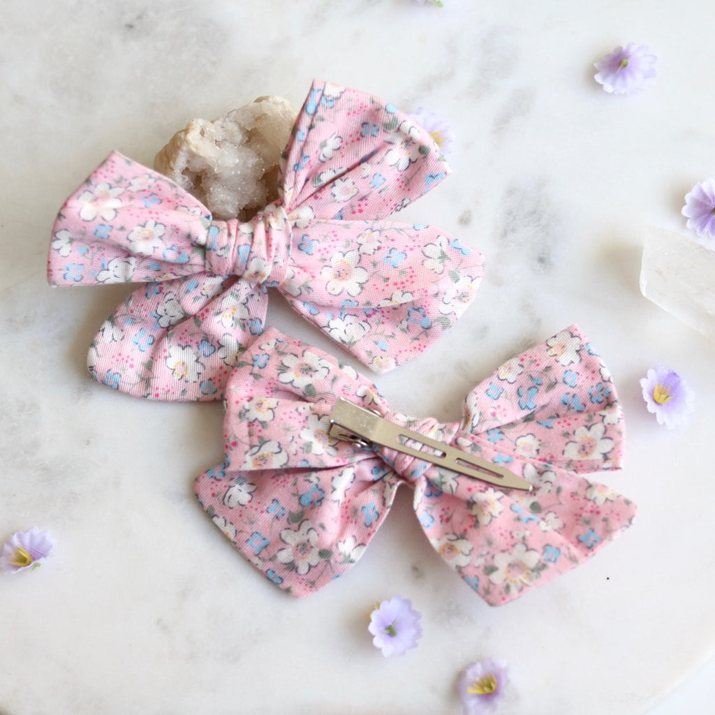 Amber Fabric Hair Bow