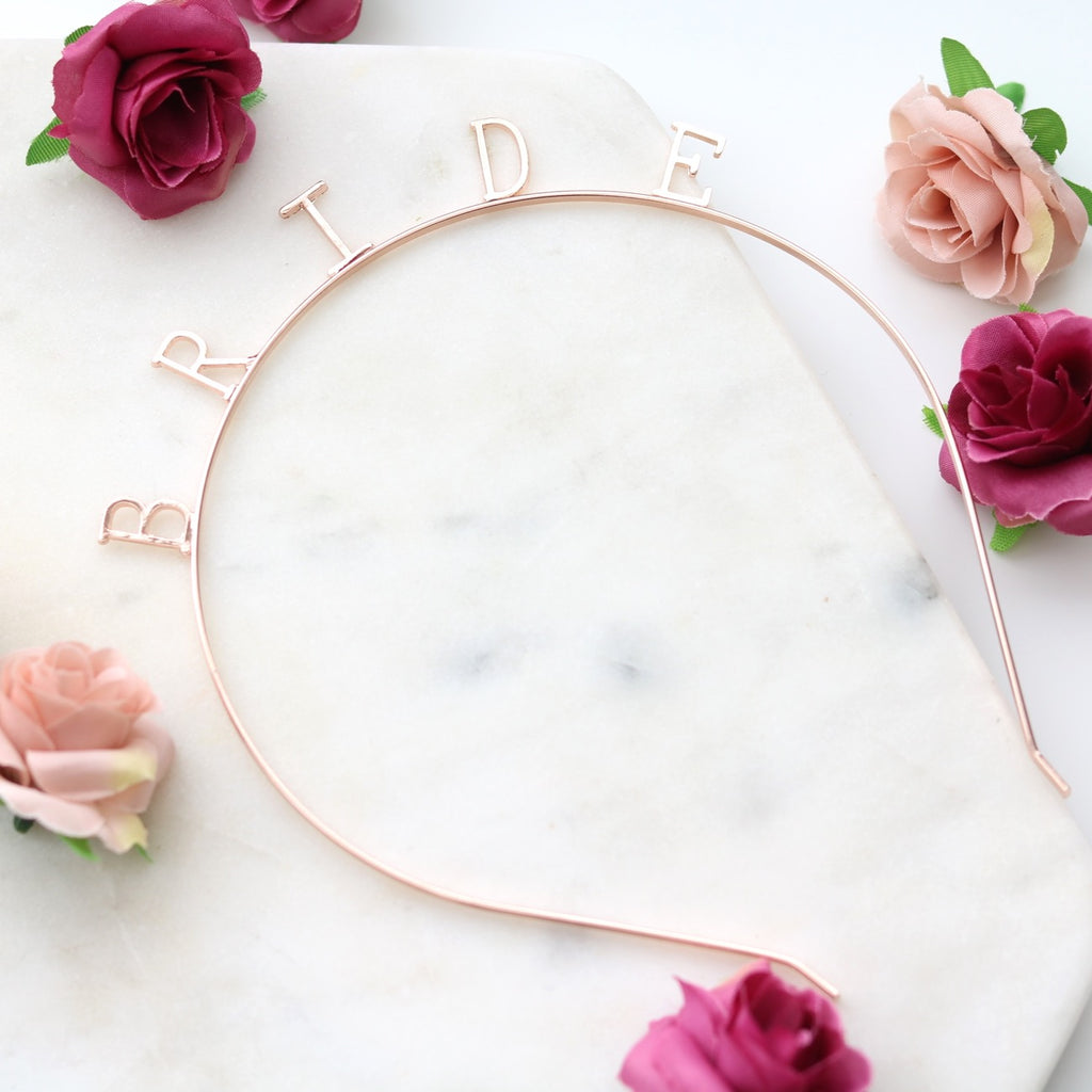 Bride Headband (Rose Gold)