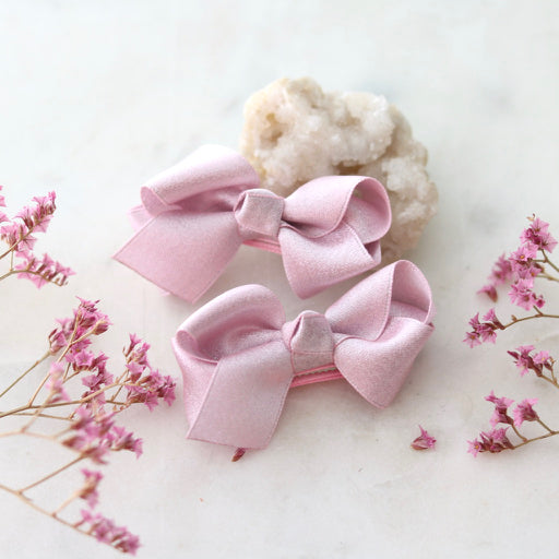 Dusty Rose Hair Clip Set