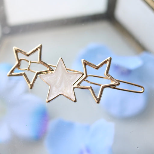 Ivory Pearl Star Hair Pin