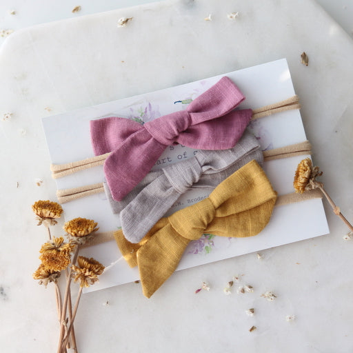 Lulu Linen Set of 3 Headbands