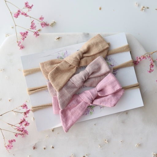 PRE-ORDER Lulu Linen Set of 3 Headbands