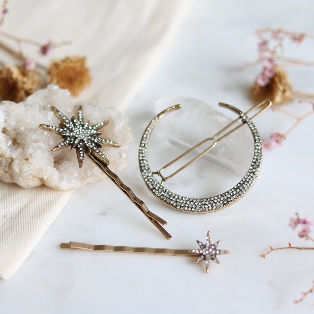 Star & Moon Hair Pins