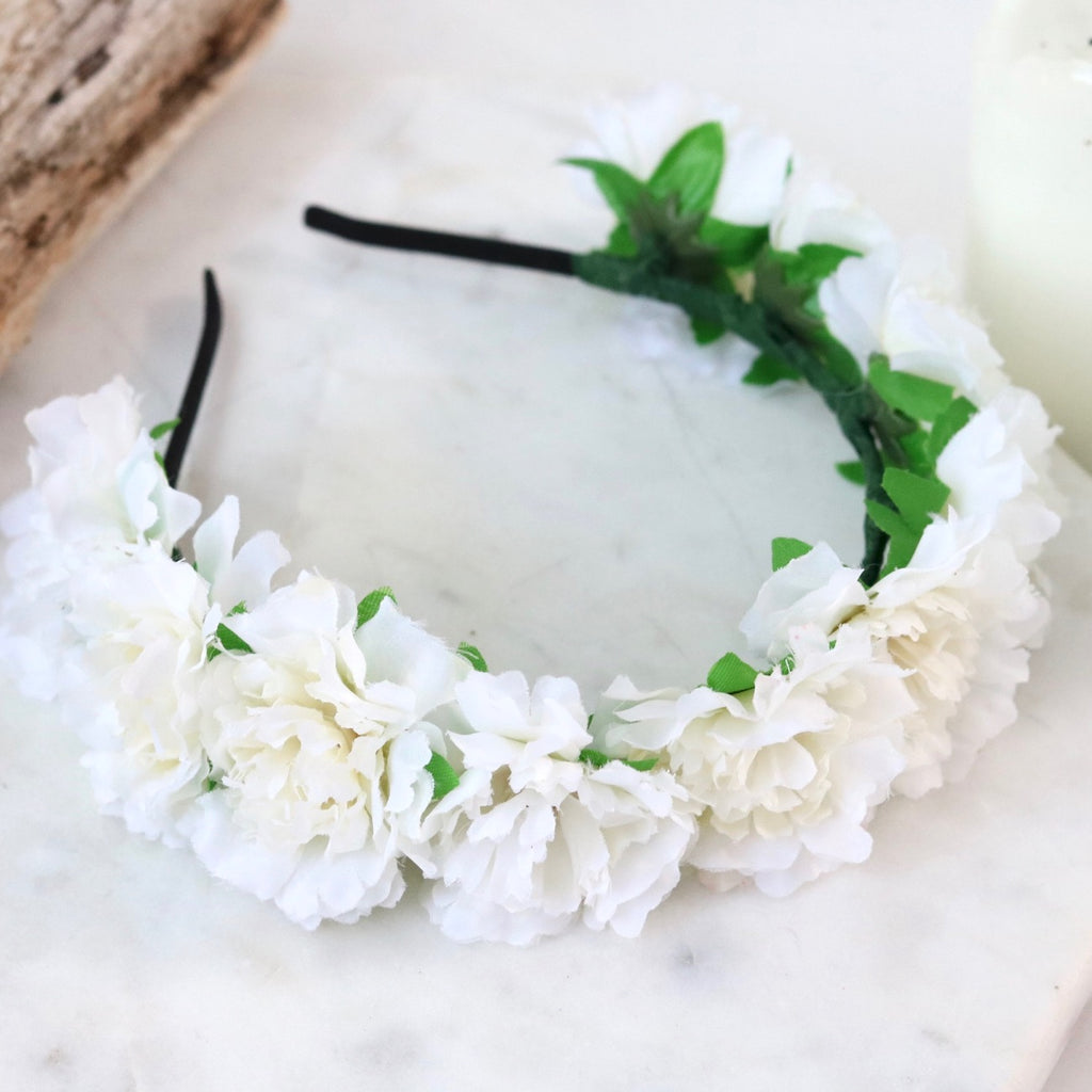 PRE-ORDER Cherish Flower Crown (White)