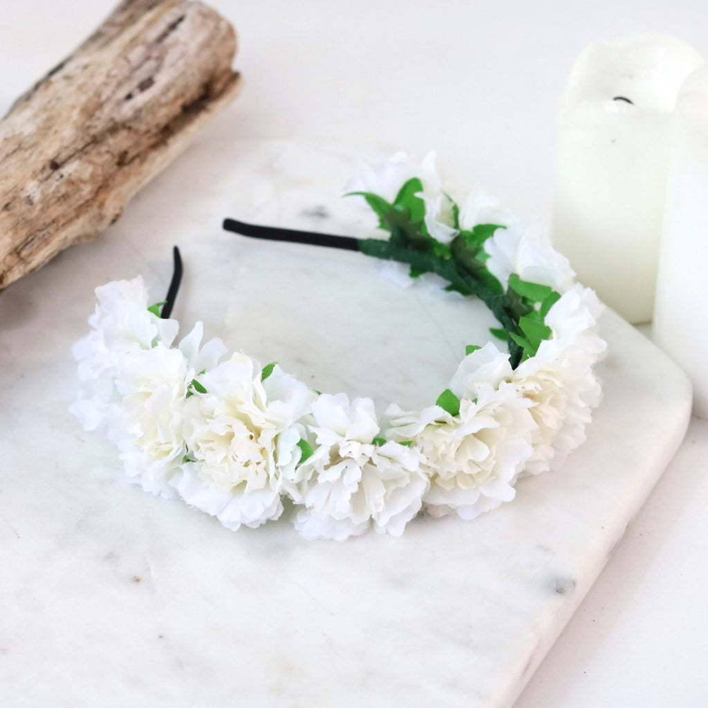 Cherish Flower Crown (White)