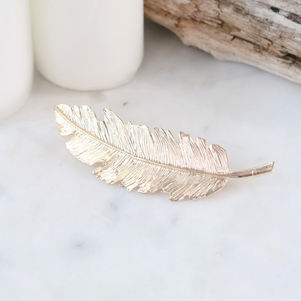 Icarus Feather Clip (Gold)