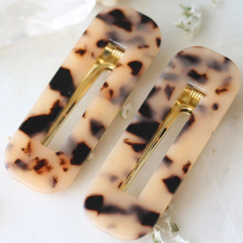 Kelly Tortoiseshell Hair Clips