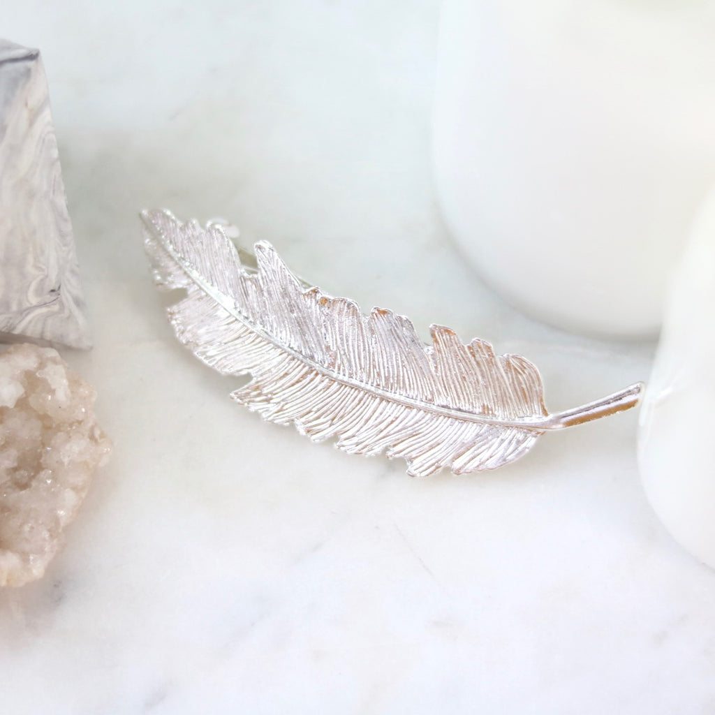 Icarus Feather Clip (Silver)