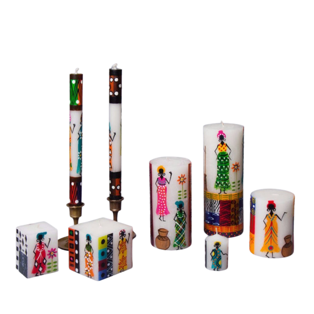 Handpainted Candles - African Ladies