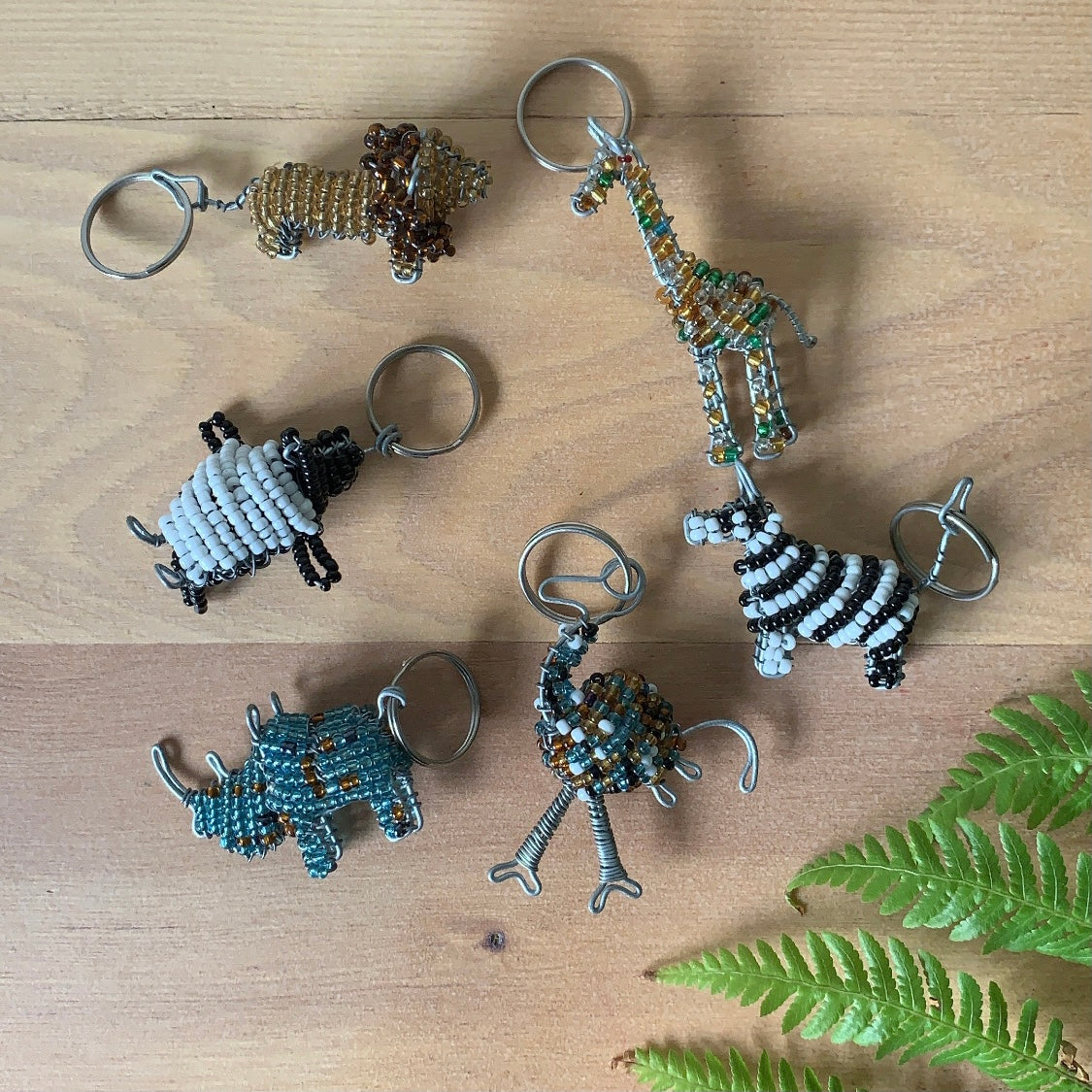 Godfrey's Beaded African Animals - Key Chains