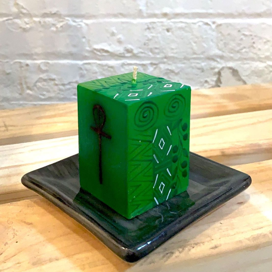 Handpainted Candles - Kwanzaa Cube Candle