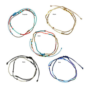 Trendy Guatemalan glass bead wrap bracelets that can also be worn as a necklace. One size fits all. Hand made by women artisans. Fair trade gifts.