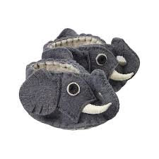 Zooties - Baby Booties hand made from felt to look like little grey elephants! Fair Trade Product.