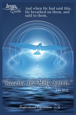 Jesus Quote - Receive the Holy Spirit