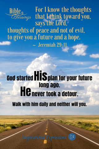 Bible Blessing - Jeremiah 29:11 For I know the thoughts/plans that I think toward you.