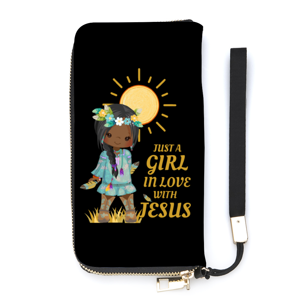 Girl In Love With Jesus Wallet Wristlet With Credit Card Holders