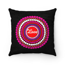 Load image into Gallery viewer, Love Dots Faux Suede Square Pillow