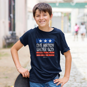 One Nation Under God Kids Patriotic T-Shirt