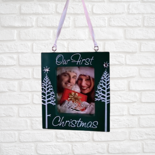 Our First Christmas Ornament Photo Frame