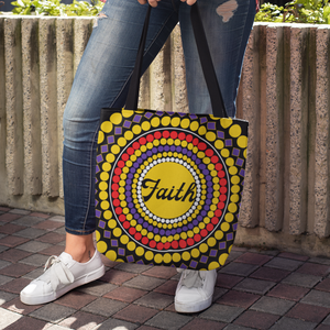 Faith Dots Tote Bag