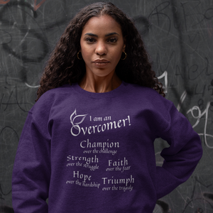 Overcomer Inspirational Christian Faith Sweatshirt