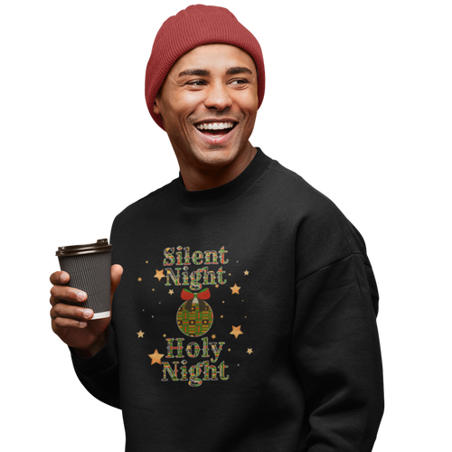Silent Night Holy Night Sweatshirt With Kente Cloth Pattern