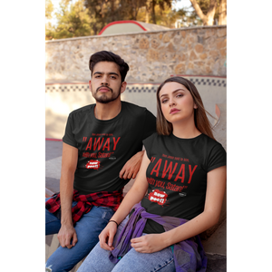 Red Letters - Matthew 4:10 - Away With You T-Shirt