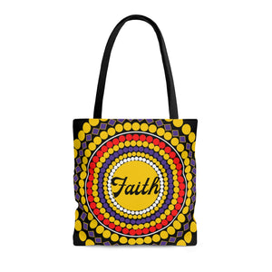 Faith, Hope, and Love Multi-colored Tote Bag