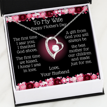 Load image into Gallery viewer, Heart Necklace | To My Wife, Best Mother To Our Children Message Card