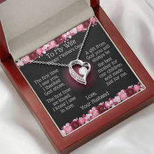 Load image into Gallery viewer, Heart Necklace -To My Wife Mother's Day - Best Mother Message Card-Mahogany-Box