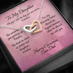 Daughter From Dad Two Heart Necklace