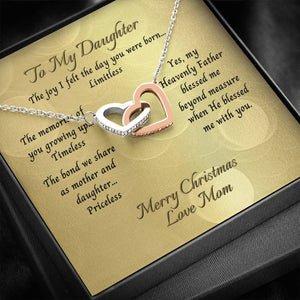 Daughter From Mom Two Heart Necklace