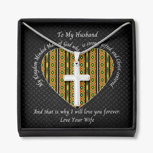Valentine-Husband-Cross-Necklace-Kente-Heart