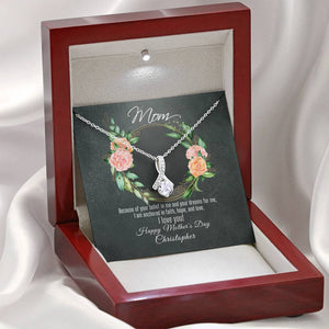 Ribbon Allure Necklace For Mother's Day With Message Card - Your Belief