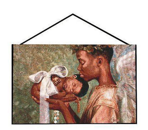 Heaven Sent African American Wall Tapestry Bannerette