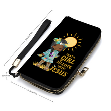 Load image into Gallery viewer, Girl In Love With Jesus Wallet Wristlet With Credit Card Holders