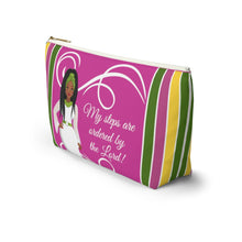 Load image into Gallery viewer, African American Accessory Bag - My Steps Are Ordered By The Lord, Christian Faith Inspired Pouch