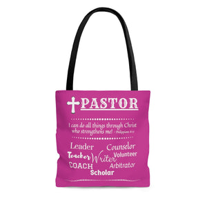 Pastor Roles Tote Bag | Many Hats of A Minister