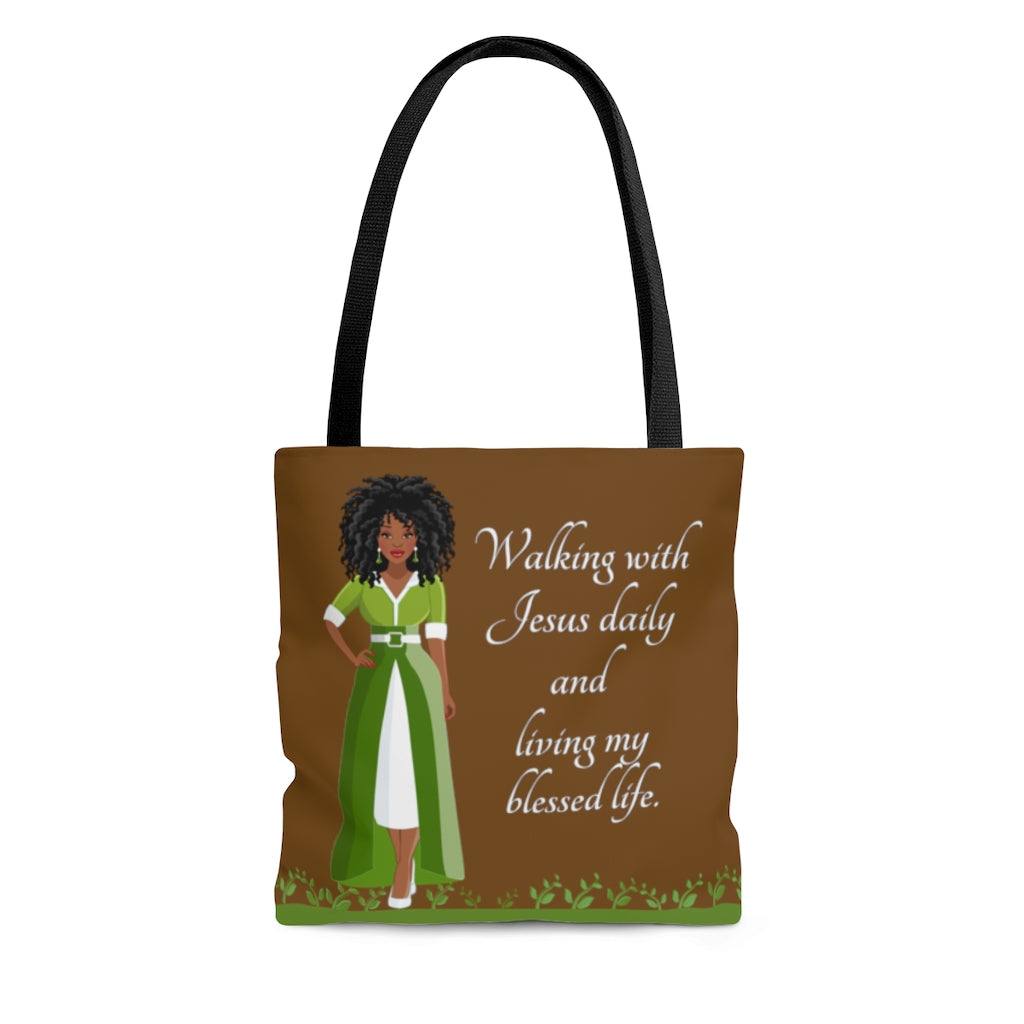 Living My Blessed Life African American Tote
