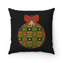 Load image into Gallery viewer, Kente Christmas Ornament Throw Pillow