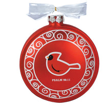 Load image into Gallery viewer, Cardinal Believe Hand-Blown Glass Christmas Ornament