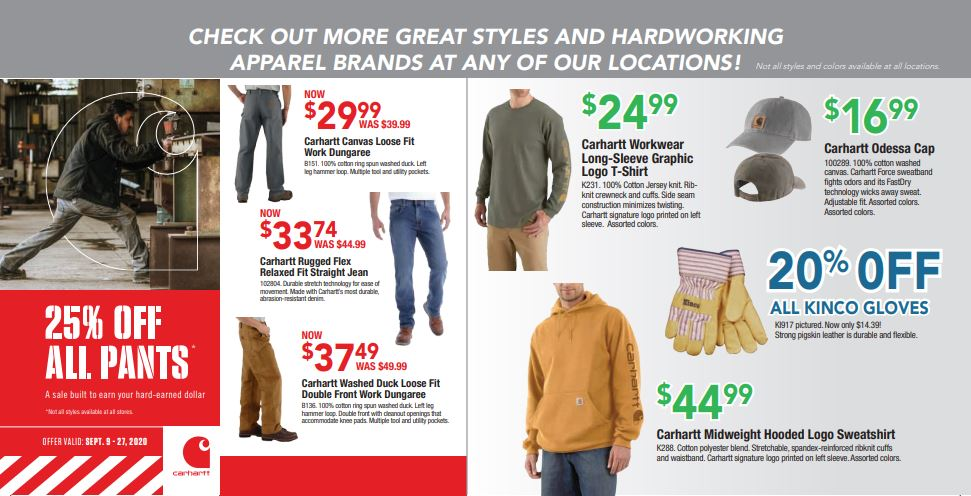 Carhartt September Specials