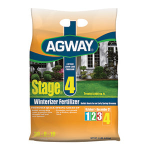 AGWAY STAGE 4 WINTERIZER FERTILIZER 5,000 SQ. FT