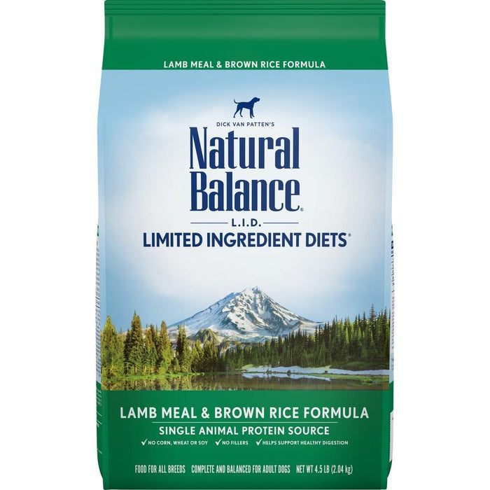 Natural Balance L.I.D. Limited Ingredient Diets Lamb Meal & Brown Rice Dry Dog Food
