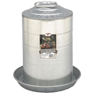 LITTLE GIANT DOUBLE WALL POULTRY FOUNT GALVANIZED
